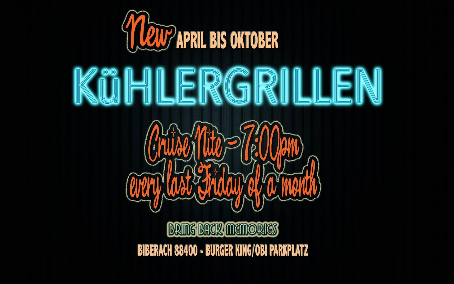 Kühlergrillen (April bis Oktober)